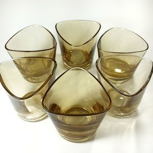 Set of 6 Ikea triangular glasses/candle holders